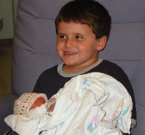 Cousin Conner holding Abigail
